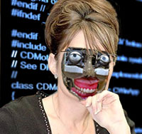 The Palin cyborg is headed back to SkyNet for an upgrade to several of its functions.