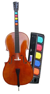 Indie Rock Band will come with a cello and keyboard (pictured) as well as other instruments.