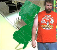 Researchers have traced the origin of the Douche Bag Disease to New Jersey.