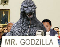 Godzilla has denied any involvement in the recent earthquake that devastated Japan.