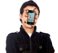 James Maddow has been assimilated by his iPhone making him the world's first iBorg.