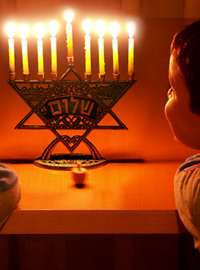 Local Christian child Bradly Mickleson wishes he was Jewish so he could celebrate Hanukah.