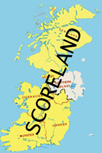 A map of the new country Scoreland as it will look after all phases of unification are complete.