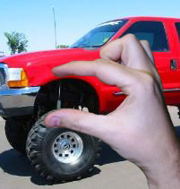 A survey in Car & Truck Magazine says the larger the truck lift, the smaller the penis.
